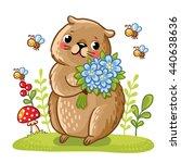 vector illustration of a gopher ... | Shutterstock .eps vector #440638636