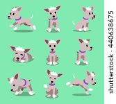 cartoon character dog poses | Shutterstock .eps vector #440638675