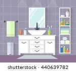 interior design of a bathroom... | Shutterstock .eps vector #440639782