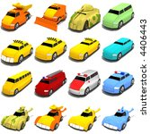 3d concept art of cartoon cars. | Shutterstock . vector #4406443