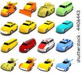 3d concept art of cartoon cars. | Shutterstock . vector #4406443