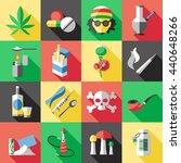 sixteen square flat drugs icon