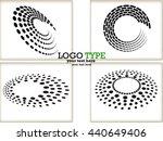 set of abstract halftone logo... | Shutterstock .eps vector #440649406