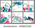 set of creative universal... | Shutterstock .eps vector #440661562