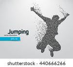 silhouette of a jumping man... | Shutterstock .eps vector #440666266