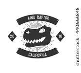 dinosaurs badge | Shutterstock .eps vector #440666848