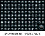 web vector icons set  | Shutterstock .eps vector #440667076