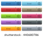 set of email glossy color... | Shutterstock .eps vector #440680786