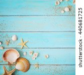 Summer Background. Seashells...