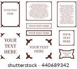 border frames calligraphic... | Shutterstock .eps vector #440689342