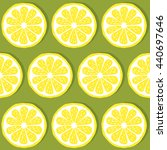 seamless pattern of lemons ... | Shutterstock . vector #440697646