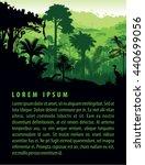 vector rainforest animals... | Shutterstock .eps vector #440699056