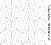 monochrome geometric thin line... | Shutterstock .eps vector #440699542