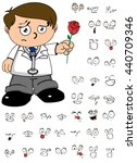 young kid doctor cartoon... | Shutterstock .eps vector #440709346