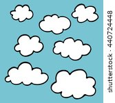 clouds seamless set hand drawn... | Shutterstock .eps vector #440724448