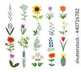 set of decorative vector plants | Shutterstock .eps vector #440726782