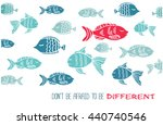 vector hand drawn greeting card ... | Shutterstock .eps vector #440740546