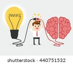 businessman connecting brain... | Shutterstock .eps vector #440751532