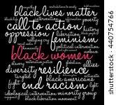 black women word cloud on a... | Shutterstock .eps vector #440754766