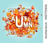 autumn foliage  banner for your ... | Shutterstock .eps vector #440755606