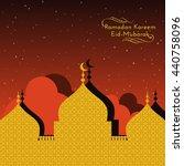 masjid mosque illustration ... | Shutterstock .eps vector #440758096