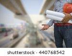 engineer holding helmet and...   Shutterstock . vector #440768542
