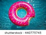 hipster sprinkled donut float... | Shutterstock . vector #440775745