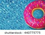 hipster sprinkled donut float... | Shutterstock . vector #440775775