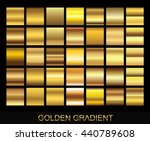 Vector set of gold gradients.Golden squares collection.