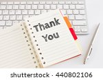 word text thank you on white... | Shutterstock . vector #440802106
