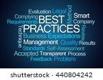 best practices word cloud on... | Shutterstock . vector #440804242
