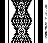 black and white aztec striped...   Shutterstock . vector #440813908