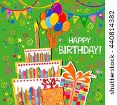 birthday card. celebration... | Shutterstock .eps vector #440814382