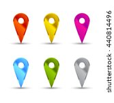 map pointers set   Shutterstock .eps vector #440814496