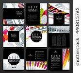 set of brochure  poster design... | Shutterstock .eps vector #440815762
