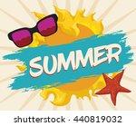 sun and brushstroke summer sign ... | Shutterstock .eps vector #440819032
