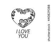 vector logo heart | Shutterstock .eps vector #440829388