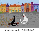Cats' Date In The Town Cartoon