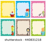 label design with kitchen... | Shutterstock .eps vector #440831218