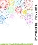 fireworks and grassland | Shutterstock .eps vector #440834896