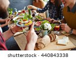eating dinner | Shutterstock . vector #440843338
