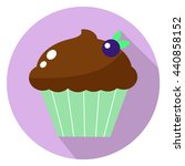 chocolate cupcake with berry... | Shutterstock .eps vector #440858152