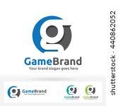 g letter brand logo  g letter... | Shutterstock .eps vector #440862052