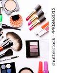 make up brush  eye shadow ... | Shutterstock . vector #440863012