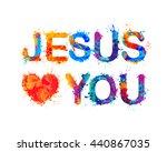 jesus loves you | Shutterstock .eps vector #440867035