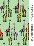 color pattern with funny... | Shutterstock .eps vector #440871682