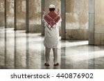 back view of young muslim man... | Shutterstock . vector #440876902