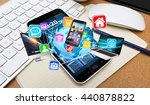 colorful tech devices... | Shutterstock . vector #440878822