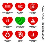 icons standard hearts. | Shutterstock .eps vector #44087992