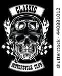 motorcycle club badge with... | Shutterstock .eps vector #440881012
